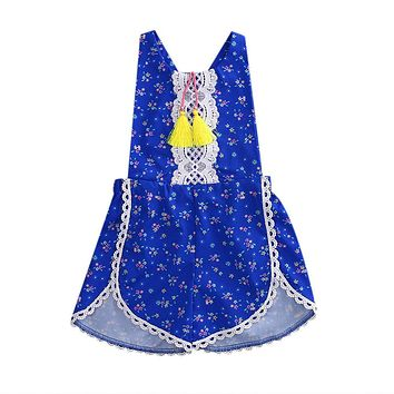 Kids Sunsuit Clothing Newborn Baby Girls Tassel Romper Clothes Strawberry Sleeveless Jumpsuit Outfits Toddler