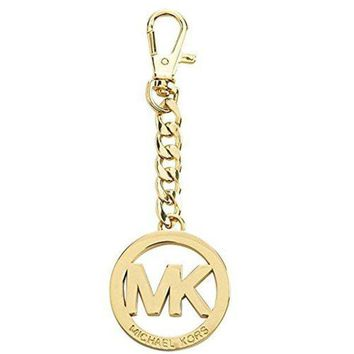 ONETOW Michael Kors MK Key Chain Handbag Charm Gold