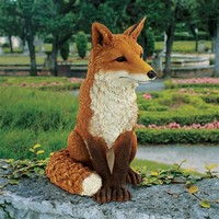 SheilaShrubs.com: Simon the Fox Garden Statue DB383073 by Design Toscano: Garden Statues