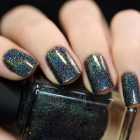 Missed Calls - Black Holographic Nail Polish