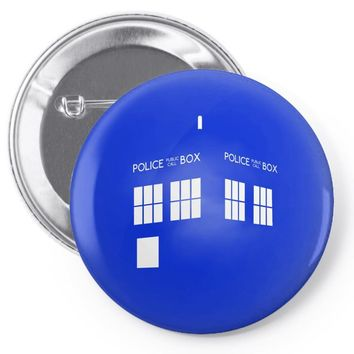 Tardis Doctor Who Pin-back button