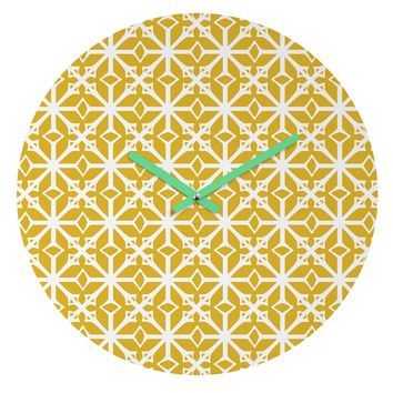 Heather Dutton Diamante Gold Round Clock