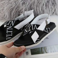 Valentino Women Casual Shoes Boots fashionable casual leather Women Heels Sandal Shoes created