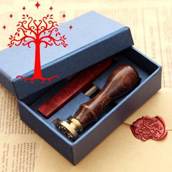 New Hot Lord of Rings wax seal stamp in Gift box ScrapbookingDIY Ancient Seal Retro Stamp, Vintage Gift high quality