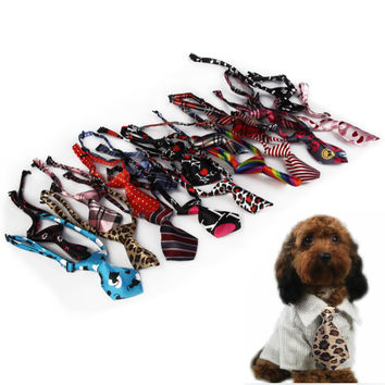 Fashion Pet Dog Cat Poodles Teddy Handsome Bow Tie Necktie Bowknot Clothes  BS1V