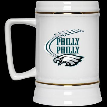 Philly Philly Football Swoosh 22217 Beer Stein 22oz.