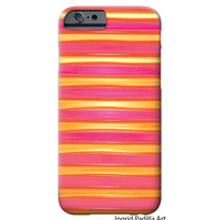 iPhone 6 Case, iPhone 5 case, Red, pink, yellow, Stripes, iPhone cover, hard plastic, iPhone 5S case, iPhone 6 plus case