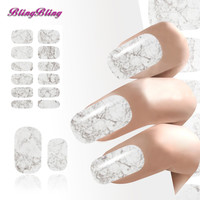 New Water Transfer Light Gray White Marble Stone Rock Nail Wraps Sticker Manicure Decals Nail Foil Sticker Art Sexy