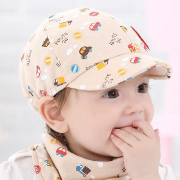 New Arrival Baby Kid Hat Little Car Pattern Fashion Cool Baseball Beret Cap for Boy Girl Toddler Infant Hats