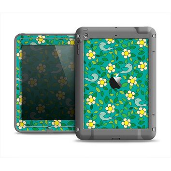 The Shades of Green Vector Flower-Bed Apple iPad Mini LifeProof Fre Case Skin Set
