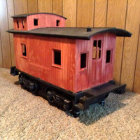 Fesco Y700 - Fesco Line 191370 - Caboose Toy Box - In production only one year - Made in USA - Train Caboose Storage Box