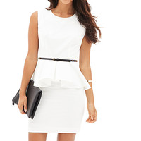 LOVE 21 Sleeveless Peplum Dress