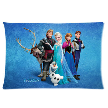 Frozen Movie Personalized Pillowcase Cover With Front And Back Pictures
