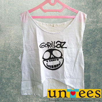 Women's Crop Tank - Gorillaz Logo Design