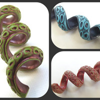 TENTACLE Dread Bead - Dreadlock Accessories - Custom Colors - Realistic Texture
