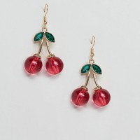ASOS Resin Cherry Drop Earrings at asos.com