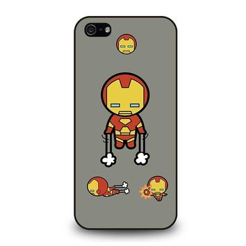 iron man kawaii marvel avengers iphone 5 5s se case cover  number 1