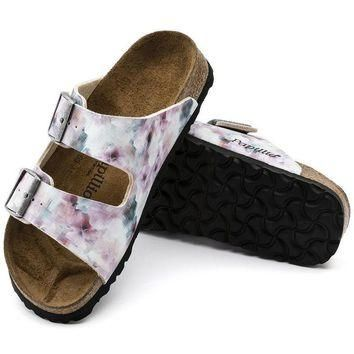 Birkenstock Arizona Soft Footbed Birko Flor Pixel Rose 1005923 Sandals