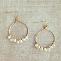 Pree Brulee - Apsara Pearl Hoop Earrings
