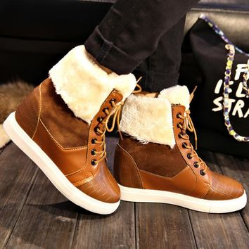 Fashion Boots For Women Fur Shoes Ankle Boots