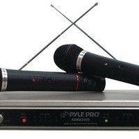 Pyle-Pro - Dual VHF Wireless Microphone System