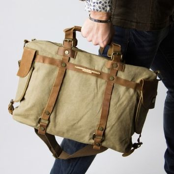 Canvas messenger bag Military