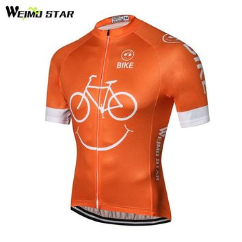 Weimostar 2018 Bike Team Summer Cycling Jersey Top Racing Sport Cycling Clothing Ropa Ciclismo Breathable MTB Bike Jersey Shirt