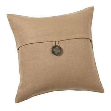 Textured Linen Pillow Cover