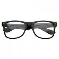 Nerd Glasses, Clear Lenses with Black Frames