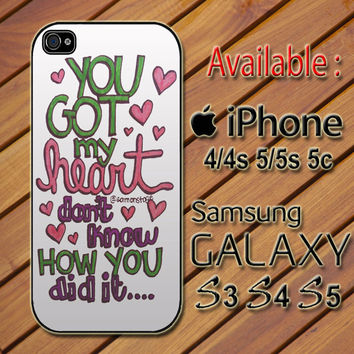 Ariana Grande Lyric custom design available for iphone 4/4s,5/5s/5c and samsung galaxy S3/S4/S5 case