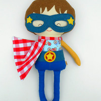 Fabric doll, superhero, cloth doll, rag doll, dolls, softdolls, super hero doll, soft toy, toys, imaginativ play toy, gender neutral toys