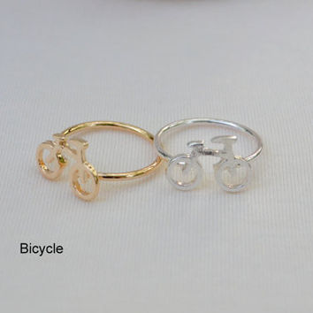 Valentine Day Gift Fashion Lovely Cartoon Bicycle Ring gold bike rings couple