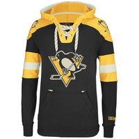 Reebok Pittsburgh Penguins CCM Pullover Hoodie - Black