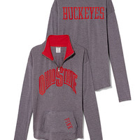 The Ohio State University Raw Half-zip Pullover - PINK - Victoria's Secret