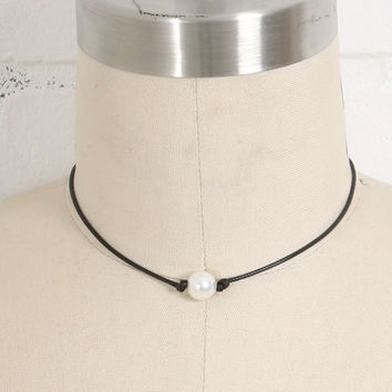 Pearl on a Cord Necklace