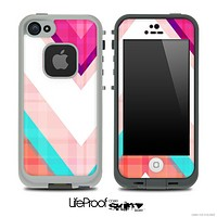 Pink & Blue Vintage V4 Chevron Skin for the iPhone 5 or 4/4s LifeProof Case