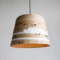 recycled cardboard light, box pendant | Folklore