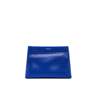 Camden Pouch in Cobalt Perforated