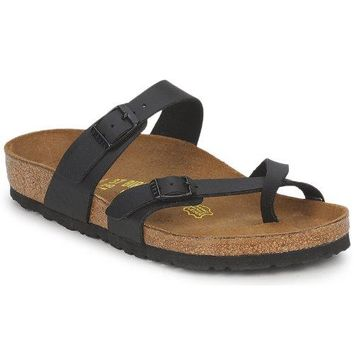 Birkenstock womens Mayari in Black from Birko-Flor Thong 40.0 EU W