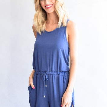 Summer Away Blue Romper