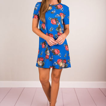 Brightly Yours Dress, Royal Blue