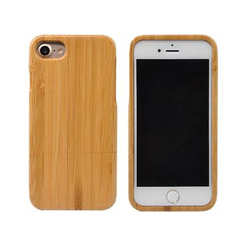 Wood Case For iPhone 6 6s 6 Plus 7 7Plus 6s Plus 6plus 5 5s SE Real Handmade Hard Cover Nature Wooden Phone Back Bamboo Shell