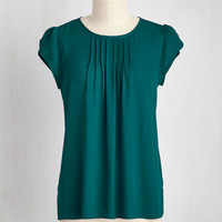 Charmer in Charge Top in Teal