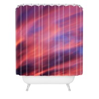 Shannon Clark Painted Sunset Shower Curtain