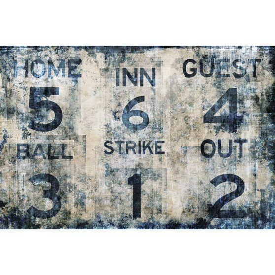 baseball scoreboard wall mural from pbteen team spirit