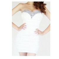 Europe and the United States strapless dress