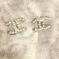CC Rhinestone Earrings