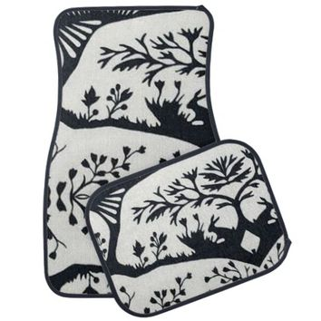 Floral Car Mats Full Set (set of 4)