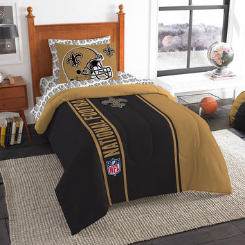 New Orleans Saints NFL Twin Comforter Bed in a Bag (Soft & Cozy) (64in x 86in)