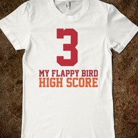 Funny 'My Flappy Bird High Score is 3' Varsity T-Shirt